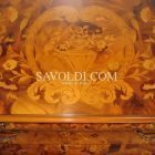 Intarsio coperchio Comò Imperiale intarsiato ed intagliato a mano Stile Olandese