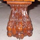 Piede di Grifone del Comò Imperiale intarsiato ed intagliato a mano Stile Olandese