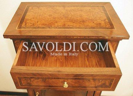 Dettaglio interno cassetto della Vetrinetta